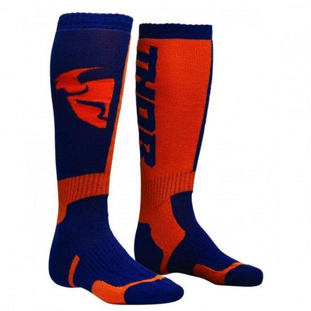 Купить Носки Thor S8 MX оранжево-синие