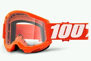 купить Очки 100% Strata 2 Orange/ Clear Lens