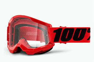 купить Очки 100% Strata 2 Red / Clear Lens