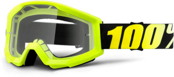 купить Очки 100% Strata Neon Yellow / Clear Lens