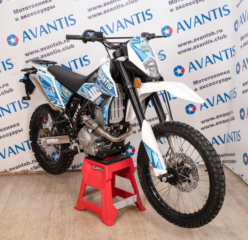 Мотоцикл Avantis Dakar 250 Twincam c ПТС (синий)