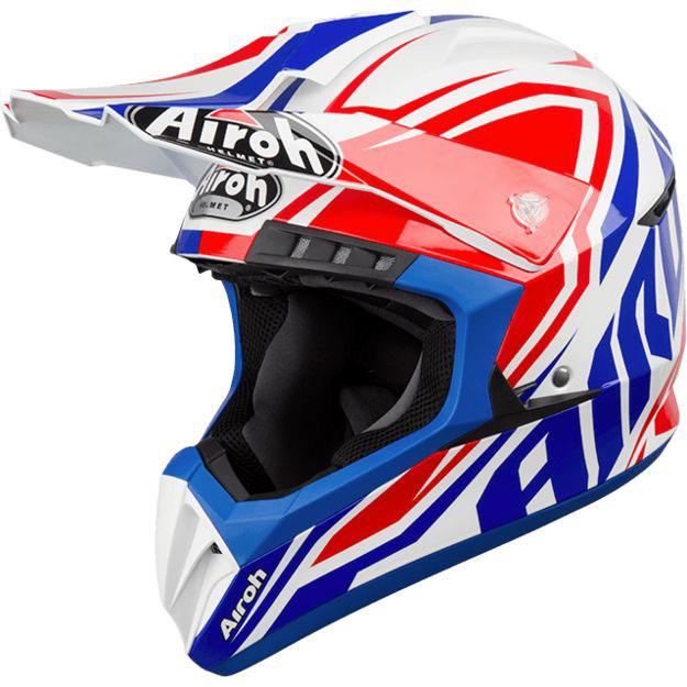 Кроссовый шлем Airoh Switch Impact голубой