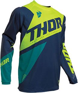 Купить Джерси для мотокросса Thor S20 Sector Blade M, темно-сине-кислотный