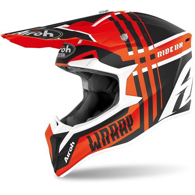 Кроссовый шлем Airoh Wraap оранжево-матовый M