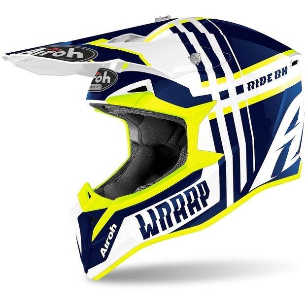 Купить Шлем для эндуро и кросса Airoh Wraap Broken Blue Gloss