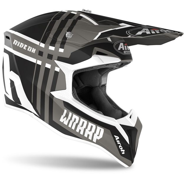 Шлем для эндуро и кросса Airoh Wraap Broken Anthracite Matt
