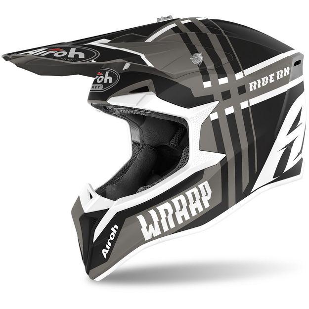 Купить Шлем для эндуро и кросса Airoh Wraap Broken Anthracite Matt