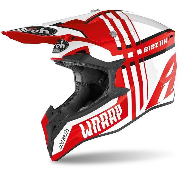 Купить Шлем для эндуро и кросса Airoh Wraap Broken Red
