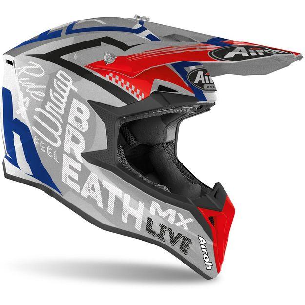 Купить Шлем для эндуро и кросса Airoh Wraap Street Grey Metal Gloss