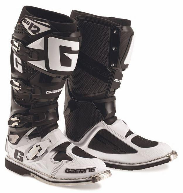 Купить Мотоботы Gaerne SG 12 черно-белые