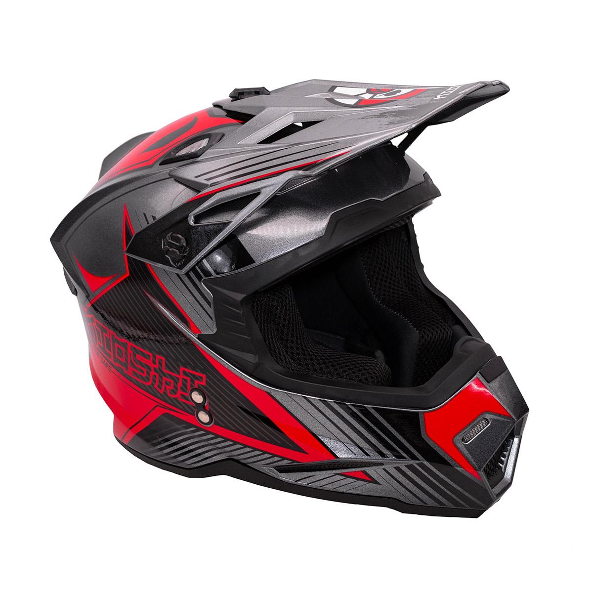 Купить Шлем KIOSHI Holeshot 801 кроссовый серый