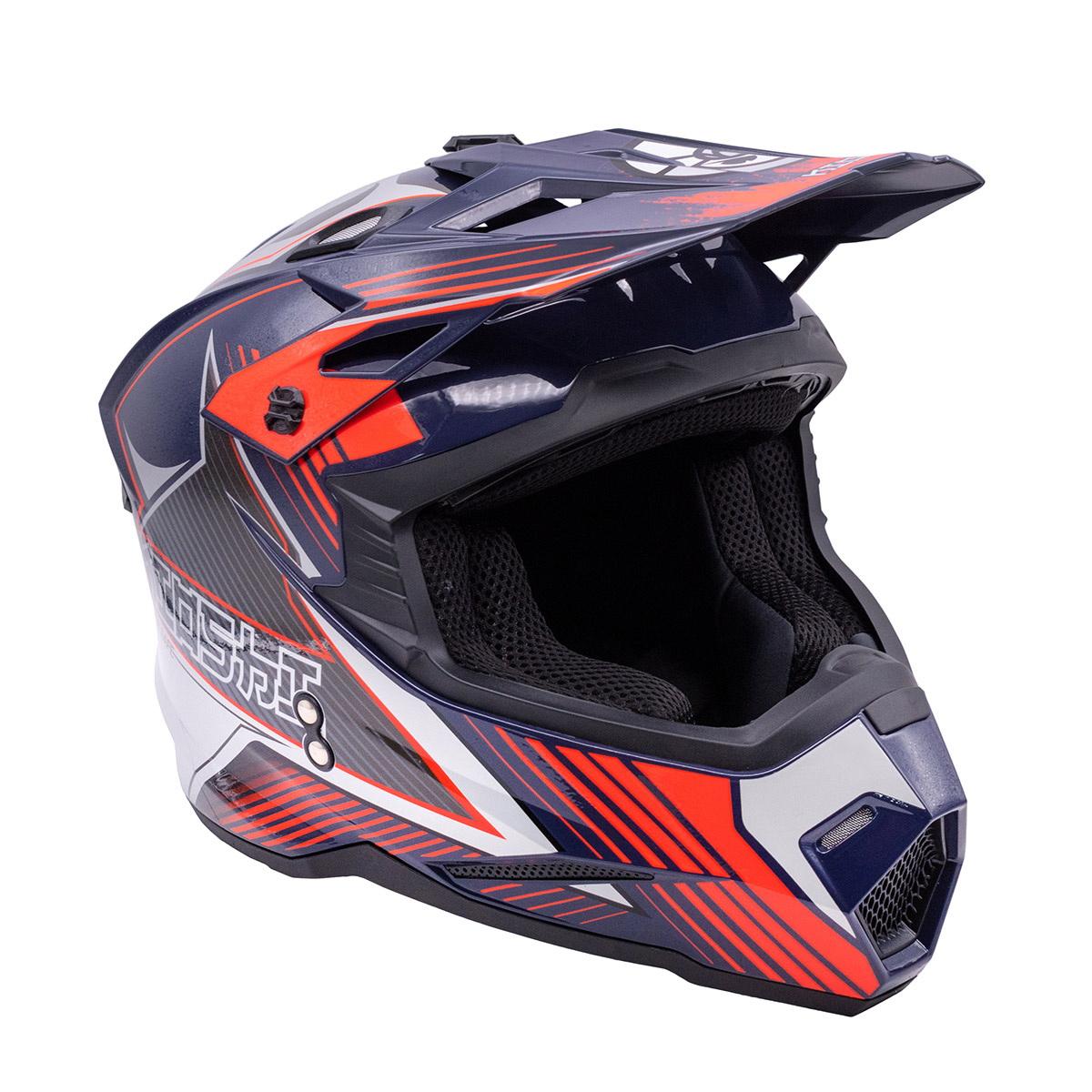 Купить Шлем KIOSHI Holeshot 801 кроссовый синий