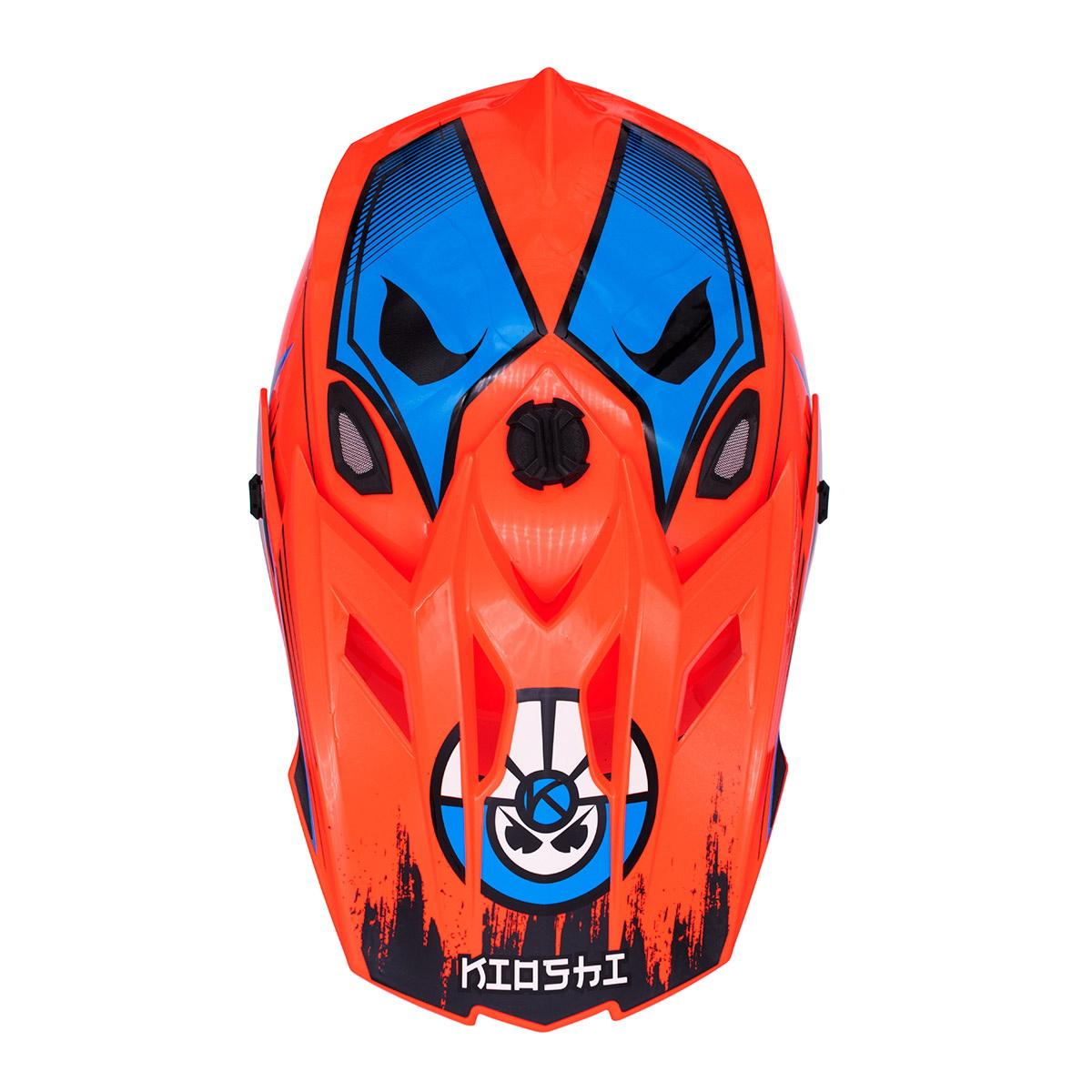 Купить Шлем KIOSHI Holeshot 801 кроссовый оранжевый