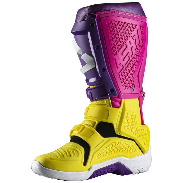 Купить Мотоботы Leatt GPX 5.5 Flexlock желто-фиолетовые